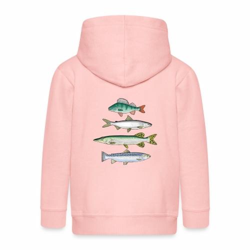 FOUR FISH - Ahven, siika, hauki ja taimen tuotteet - Lasten premium hupparitakki
