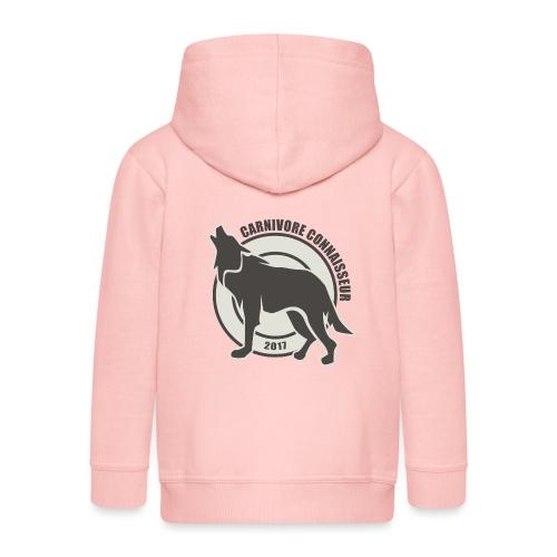 Fleischfresser - Grillshirt - Der mit dem Wolf heu - Kinder Premium Kapuzenjacke