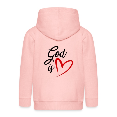 God is love 2N - Felpa con zip Premium per bambini