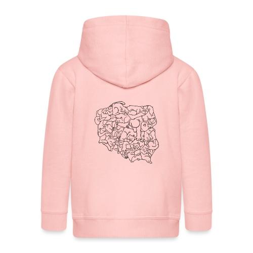 Kotowództwa - Rozpinana bluza dziecięca z kapturem Premium