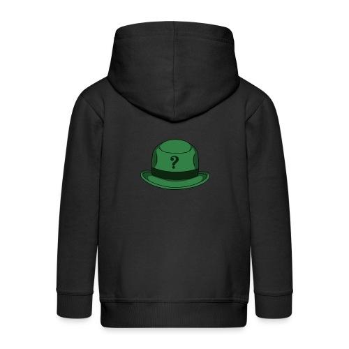 Grüner Rätsel Hut Riddler - Kinder Premium Kapuzenjacke