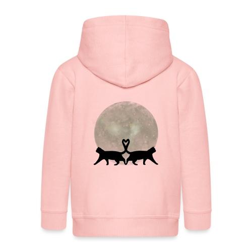Cats in the moonlight - Kinderen Premium jas met capuchon