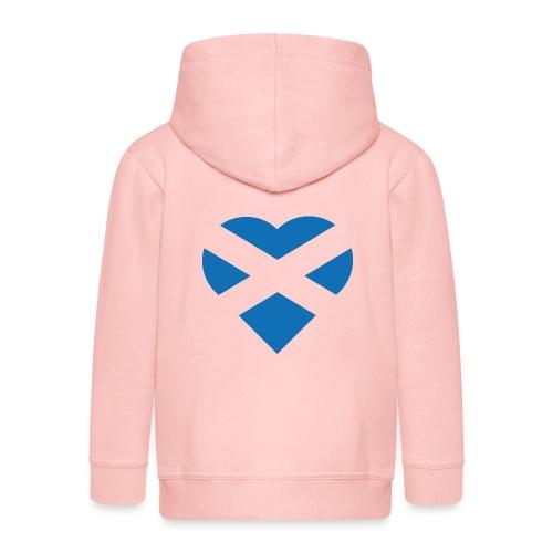 Flag of Scotland - The Saltire - heart shape - Kids' Premium Hooded Jacket