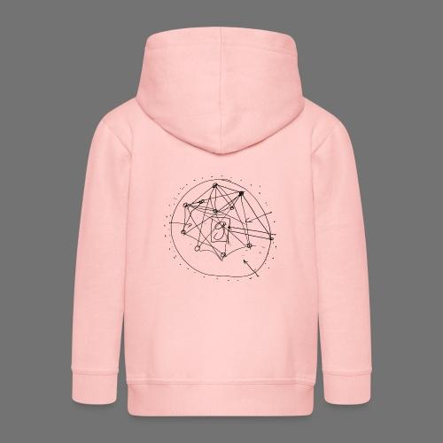 Strategia SEO nr 1 (czarny) - Rozpinana bluza dziecięca z kapturem Premium