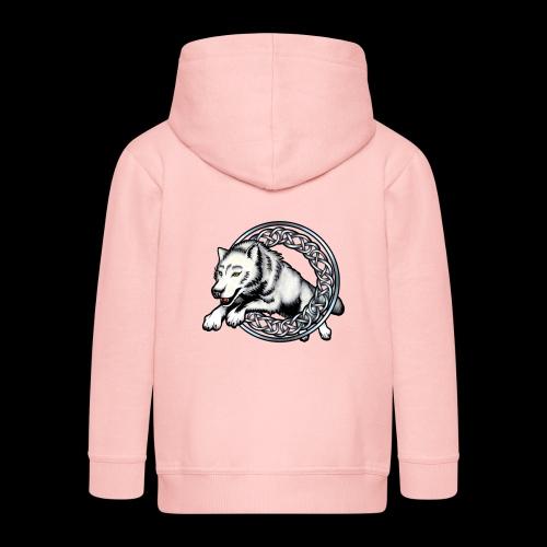 Leaping Wolf - Kids' Premium Hooded Jacket