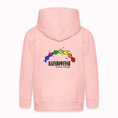 rainbowfish - Felpa con zip Premium per bambini