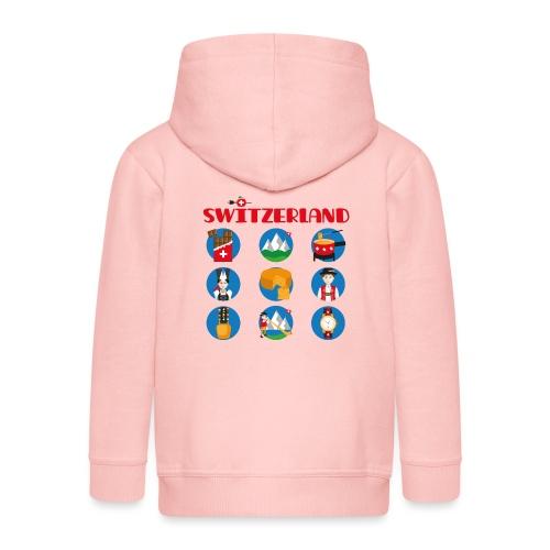 Switzerland - Kinder Premium Kapuzenjacke