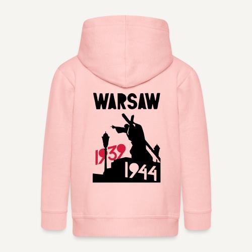 Warsaw 1939-1944 - Rozpinana bluza dziecięca z kapturem Premium