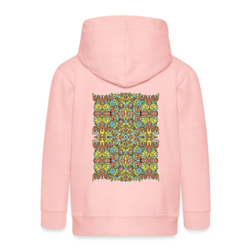 Weird creatures multiplying infinitely - Kids' Premium Zip Hoodie