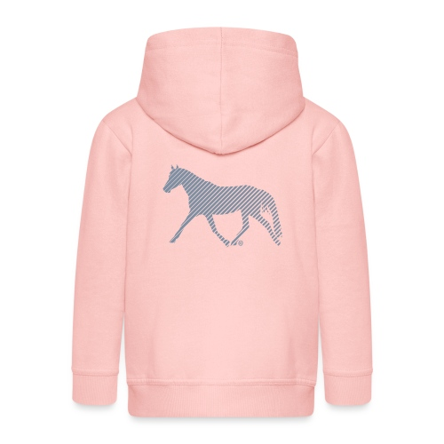 Streifen Pferd - Kinder Premium Kapuzenjacke