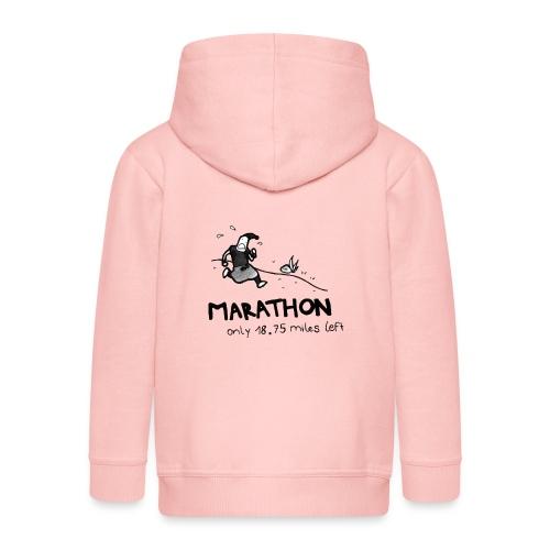 marathon-png - Rozpinana bluza dziecięca z kapturem Premium
