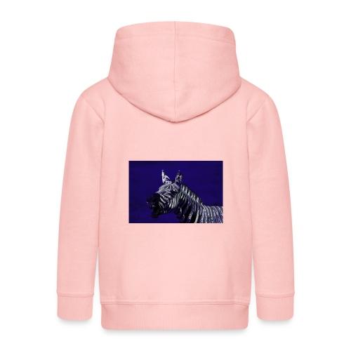 blue zebra - Kids' Premium Zip Hoodie