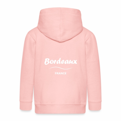 Bordeaux, blanc - Veste à capuche Premium Enfant