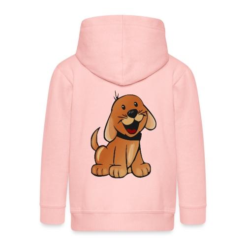 cartoon dog - Felpa con zip Premium per bambini
