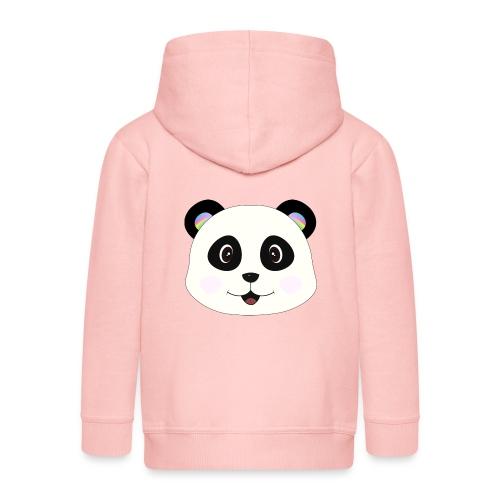 panda rainbow - Chaqueta con capucha premium niño