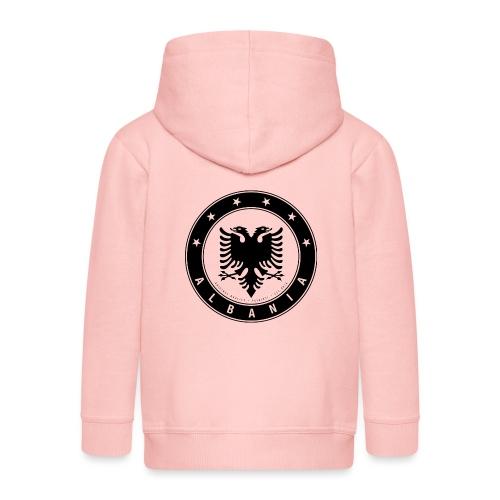 Patrioti Albania Black - Kinder Premium Kapuzenjacke