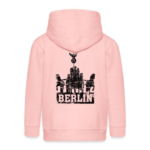 Berlin Brandenburger Tor Quadriga Vintage/Schwarz - Kinder Premium Kapuzenjacke