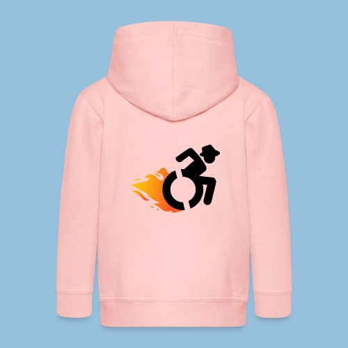 Roller met vlammen 016 - Kinderen Premium jas met capuchon