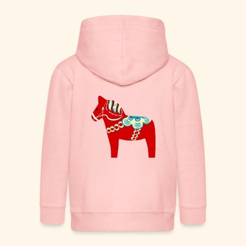 Röd dalahäst - Premium-Luvjacka barn