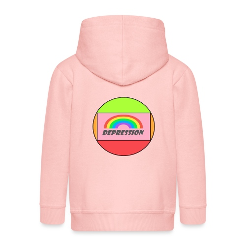 Depressed design - Kids' Premium Zip Hoodie