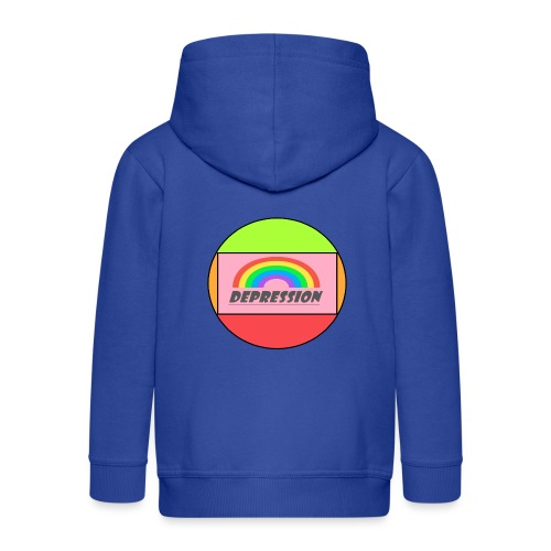 Depressed design - Kids' Premium Zip Hoodie