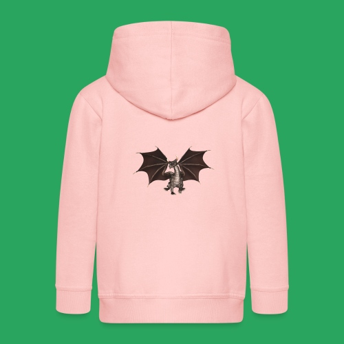 dragon logo color - Felpa con zip Premium per bambini