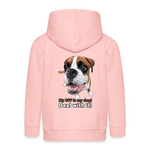 MY Best Friend Forever is my dog! - Kids' Premium Zip Hoodie
