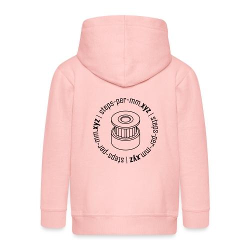 steps-per-mm Round Logo - Kids' Premium Hooded Jacket