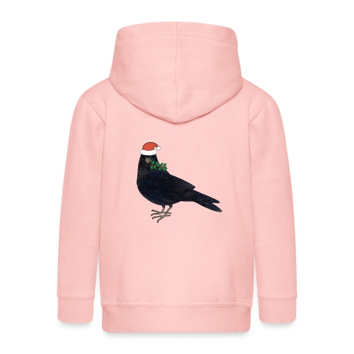 Christmas raven - Kids' Premium Zip Hoodie
