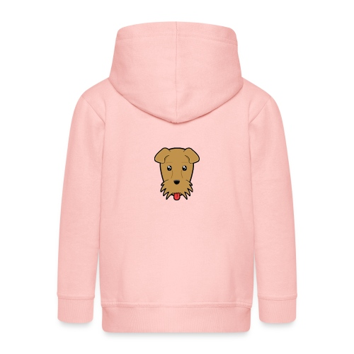 Shari the Airedale Terrier - Kids' Premium Zip Hoodie