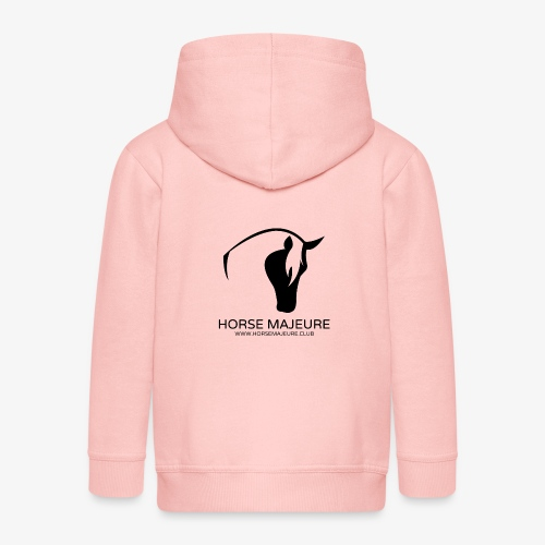 Horse Majeure Logo / Musta - Lasten premium hupparitakki