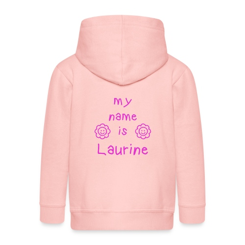 LAURINE MY NAME IS - Veste à capuche Premium Enfant