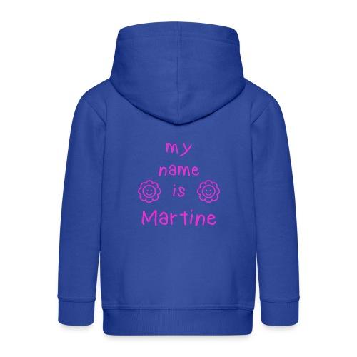 MARTINE MY NAME IS - Veste à capuche Premium Enfant