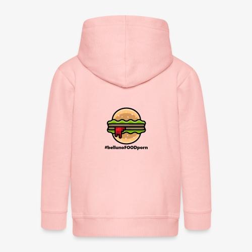 belluno FOOD burger - Felpa con zip Premium per bambini