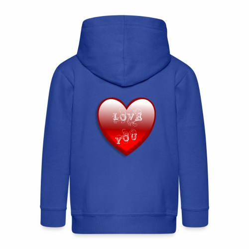 Love You - Kinder Premium Kapuzenjacke