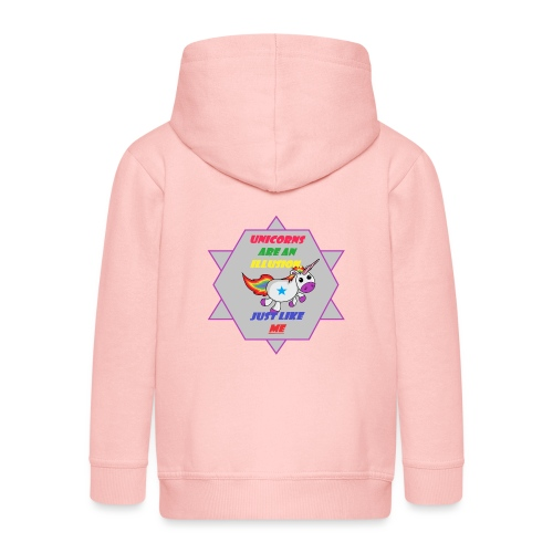 Unicorn with joke - Kids' Premium Zip Hoodie