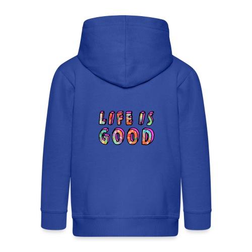LifeIsGood - Kids' Premium Zip Hoodie