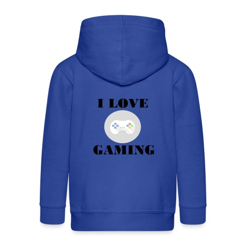 I love Gaming Design - Kinder Premium Kapuzenjacke