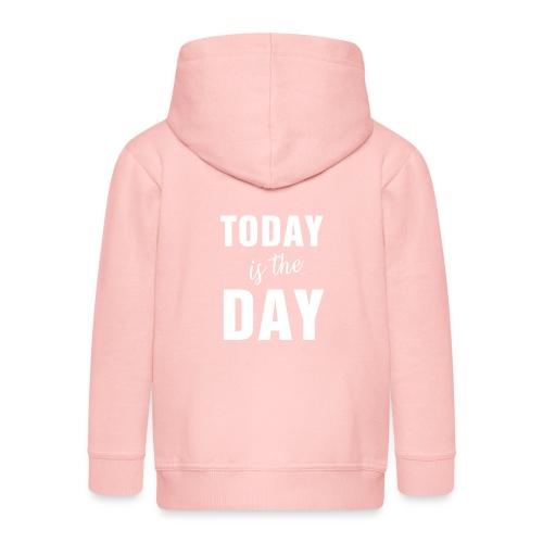 Today is the day1B - Felpa con zip Premium per bambini