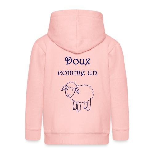 doux-comme-un-agneau-2 - Veste à capuche Premium Enfant