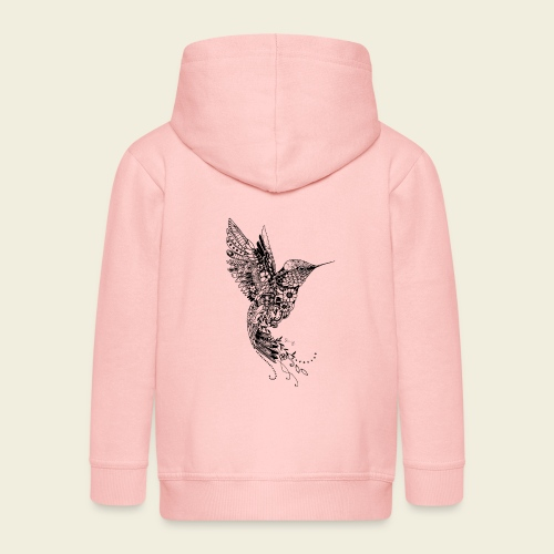 Großer Design-Kolibri - Kinder Premium Kapuzenjacke
