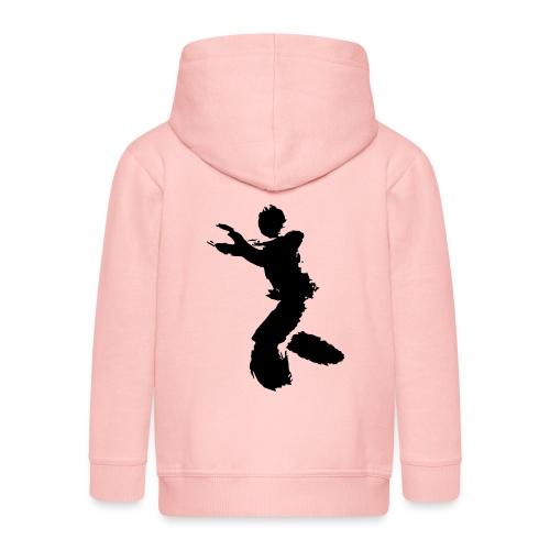 Wing Chun / Kung Fu Tusche Figur VEKTOR - Kids' Premium Zip Hoodie