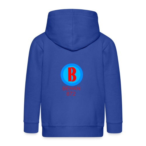 Rep that Behan 872 logo guys peace - Kids' Premium Zip Hoodie