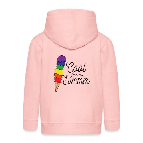 Cool für den Sommer | Eis | Regenbogen - Kinder Premium Kapuzenjacke