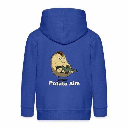 Mr Potato Aim - Kids' Premium Zip Hoodie