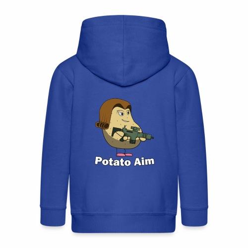 Mrs Potato Aim - Kids' Premium Zip Hoodie