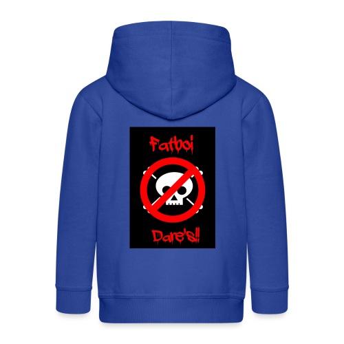 Fatboi Dares's logo - Kids' Premium Zip Hoodie