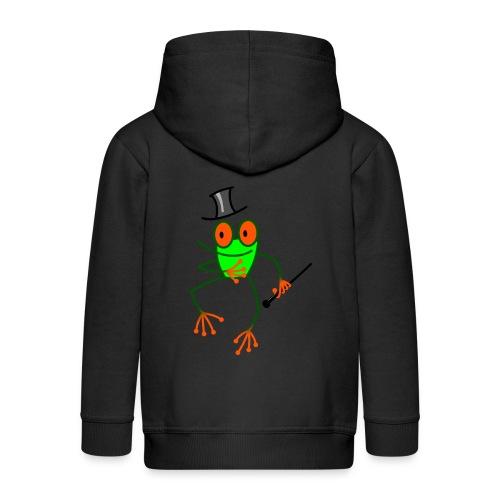 Dancing Frog - Kids' Premium Zip Hoodie