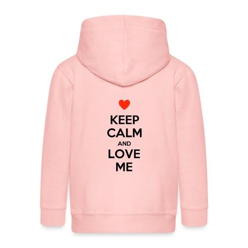 Keep calm and love me - Felpa con zip Premium per bambini