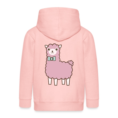 fluffy Lama - Kinder Premium Kapuzenjacke